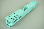 Gorilla Machining Glock 19 Robins Egg Tiffany Blue Custom Slides with Trijicon RMR cut out