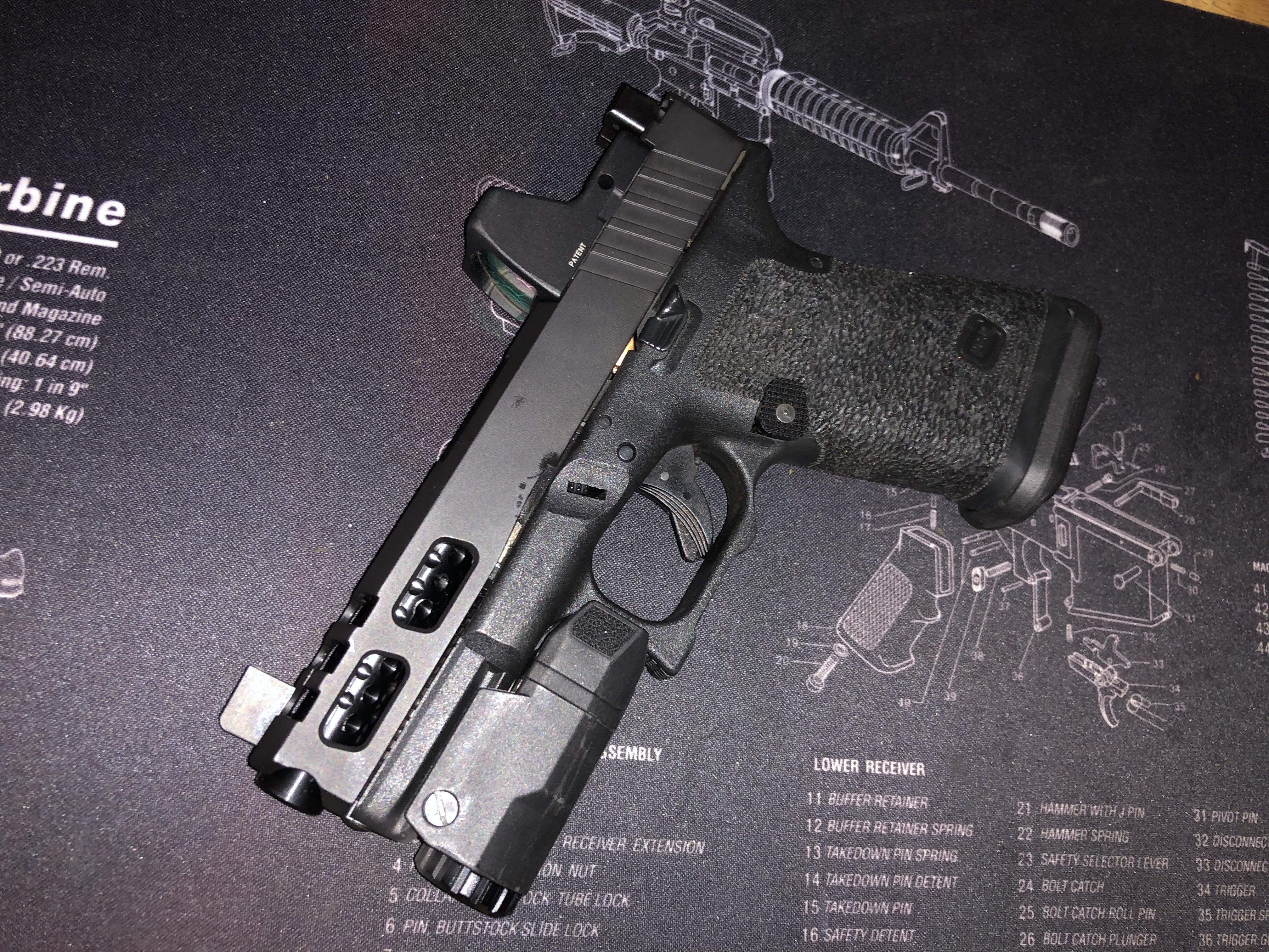 Gorilla Machining Glock 19 Black Custom Slides with Trijicon RMR cut out